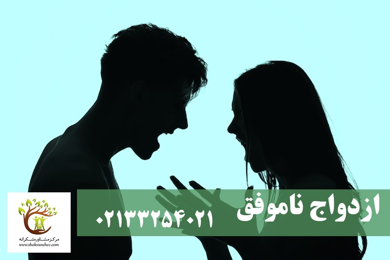 زن و شوهری که به دلیل ازدواج ناموفق در حال بحث و جدل با یکدیگر هستند.